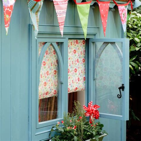 Painted Shed Ideas by Summery Garden Shed Garden Design Ideas Summer House
