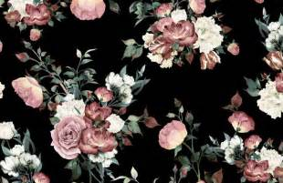 Trippy Wall Murals vintage pink and cream dark floral wall mural murals