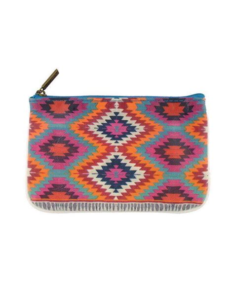 Print Faux Leather Pouch morocco vegan leather carry all pouch