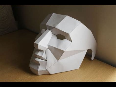 How To Make A 3d Mask Out Of Paper - how to make low poly 3d mask