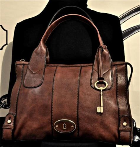 Fossil Satchel Large Brown Tas Branded Original Authentic 238 Fossil Brown Zb5190 Vintage Reissue Vri Leather Zip