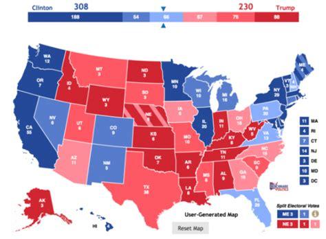 mapaor de elecciones usa 2016 resultados de las elecciones de estados unidos 2016