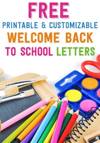 welcome back to school template free printable and customizable welcome back to school letters