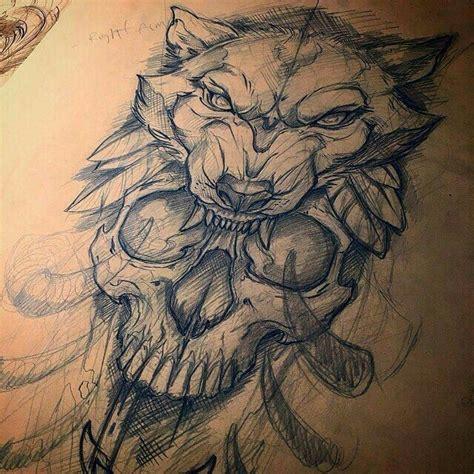tattoo drawing design 1 0 apk download skull wolf hood tattoos