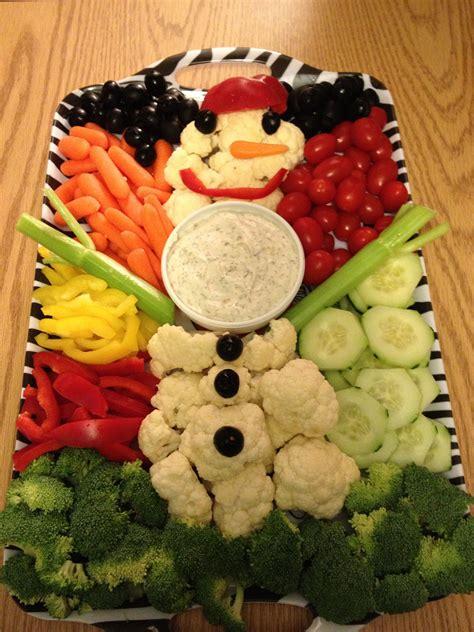 vegetable santa claus platter snowman veggie tray doc mcstuffins