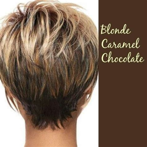 caramel haircolor pixies 20 layered short hairstyles for women pinterest