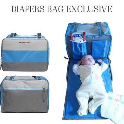 Tas Bayi 3 In 1 Perlak Tempat Perlengkapan Botol Diapers Popok bag exclusive tas perlengkapan bayi model baru dan