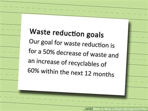 waste management strategy template choice image
