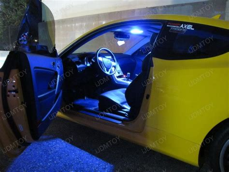 Car Led Interior Lights by Led Interior Lights On 2010 Hyundai Genesis Coupe