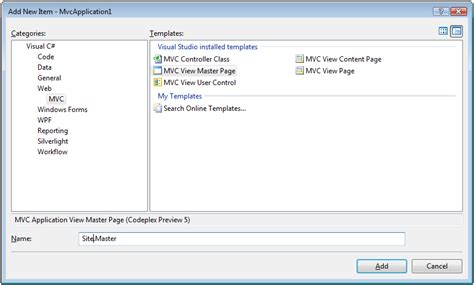 mvc layout page menu asp net mvc view creating page layouts with view master