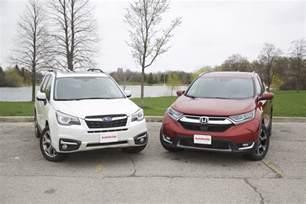 Honda Vs Subaru 2017 Honda Cr V Vs 2017 Subaru Forester Autoguide News