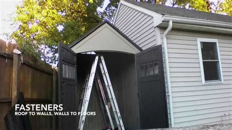 rubbermaid roughneck shed assembly timelapse youtube