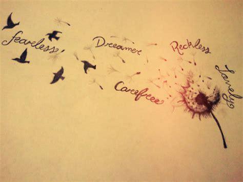 dandelion tattoo quotes tumblr dream birds dandelion drawing image 518826 on favim com