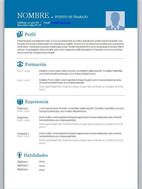 Plantilla De Curriculum Vitae 2014 Modelos De Curriculum Vitae En Word Para Completar