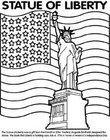 statue of liberty coloring page statue of liberty crayola au