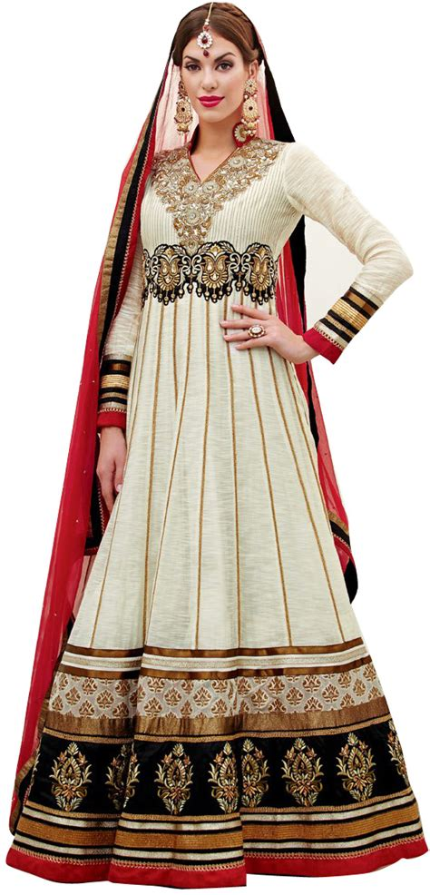 Kaftan Anarkali 50 snow white wedding anarkali suit with embroidery and work
