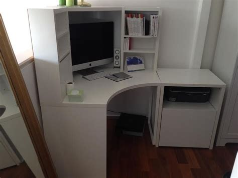 micke corner desk ikea micke corner workstation with separate printer