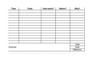 Food Logs Templates by Food Log Template 15 Free Word Excel Pdf Documents