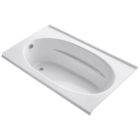 bathtub flange kohler windward 6 ft left hand drain with tile flange