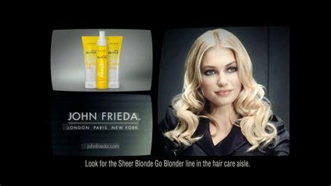 who is in the john frieda commercial john frieda tv commercial for sheer blonde shoo ispot tv