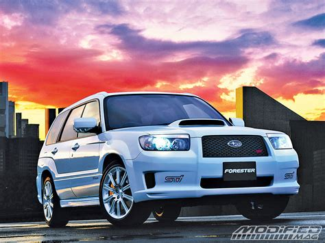 forester subaru modified building your own subaru forester sti front view photo 1