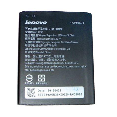 Baterai Hp Lenovo A6000 Plus jual lenovo baterai original bl242 lenovo a6000