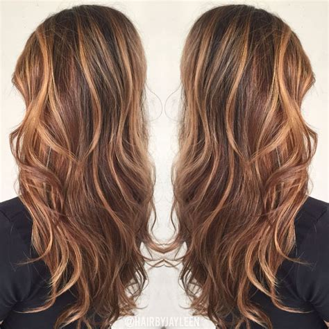 warm color hair highlight palette brown hair color caramel highlights caramel balayage