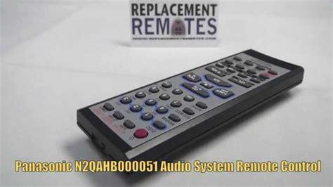 V Audio Panasonic by Panasonic N2qahb000051 Audio System Remote Www