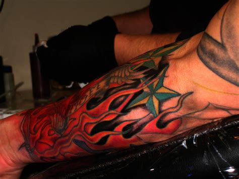 stars and flames tattoo designs nautical meaning tattoos photo gallery
