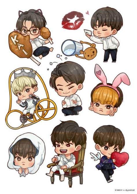 wallpaper anime exo kim kai exo s fanart by rosmarin fanart my favourite