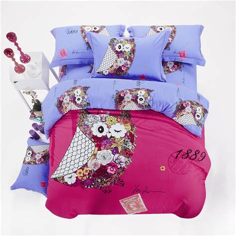 owl girls bedding sets king size queen twin children