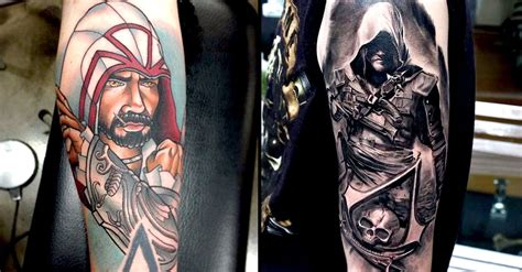 assassins creed tattoos 12 badass assassins creed tattoos tattoodo