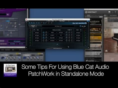 Blue Cat Audio Patchwork - some tips for using blue cat audio patchwork in standalone