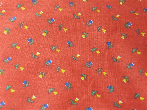 70s fabric vintage calico fabric 60s 70s floral fabric cotton