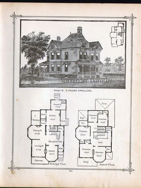 Old Farmhouse Plans 1800s Vintage Victorian House Plans Large Vintage House Plans
