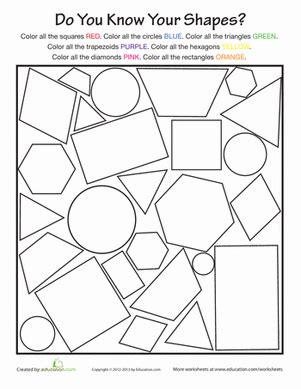 printable shapes for first grade basic shapes worksheet education com