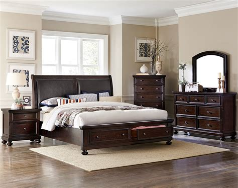 5 piece queen bedroom set chester 5 piece queen bedroom set cherry leon s