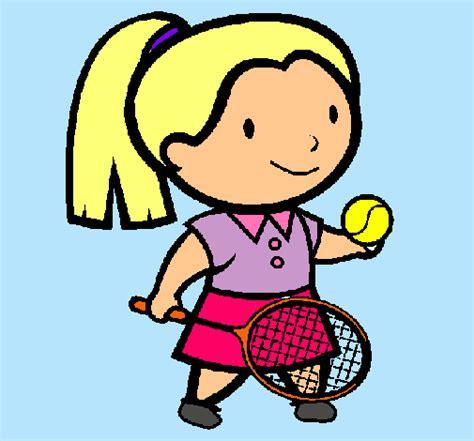 dibujos niños jugando tenis dibujo de chica tenista pintado por tenis en dibujos net