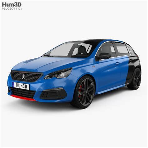 peugeot hatchback models peugeot 308 gti hatchback 2017 3d model hum3d