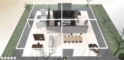 L Shaped Duplex Plans a virtual look into mies van der rohe s core house archdaily