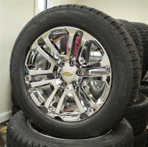 Tires And Rims For Chevy Silverado Set 4 New 20 Quot Chevrolet Silverado Suburban Tahoe Chrome