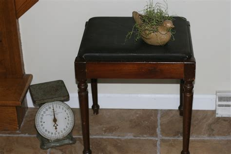 1950s singer sewing stool antique stool storage bench home decor wood stool haute juice