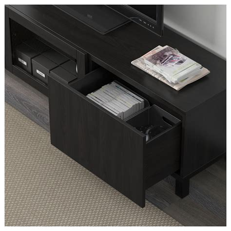 bench clear best 197 tv bench with drawers and door lappviken black brown