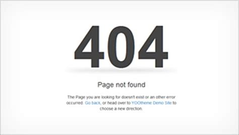 404 page template warp6 error pages yootheme