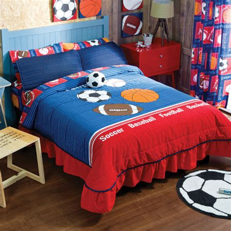 sports bedding new boys girls sports soccer football basketball bedspread