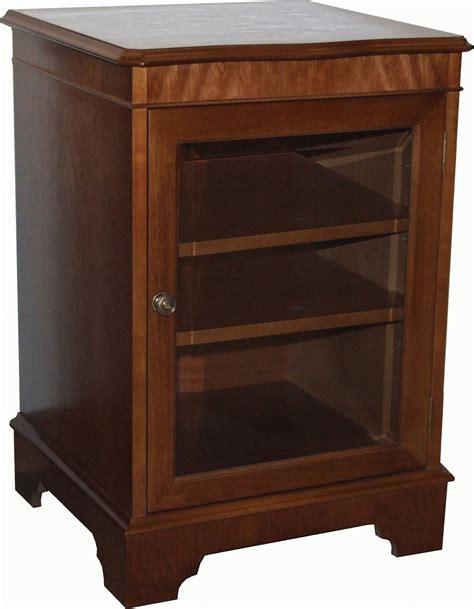 Small Media Shelf by Small Stacker Glass Media Storage