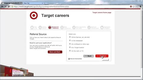 Target Background Check Target Application