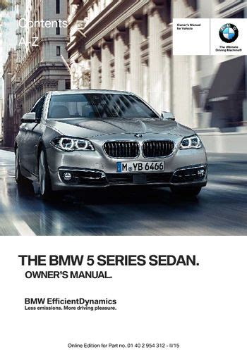 download car manuals pdf free 1993 bmw 5 series user handbook download 2015 bmw 5 series sedan owner s manual pdf 277 pages