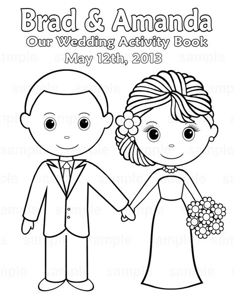 wedding coloring pages 11 coloring kids printable personalized wedding coloring activity book