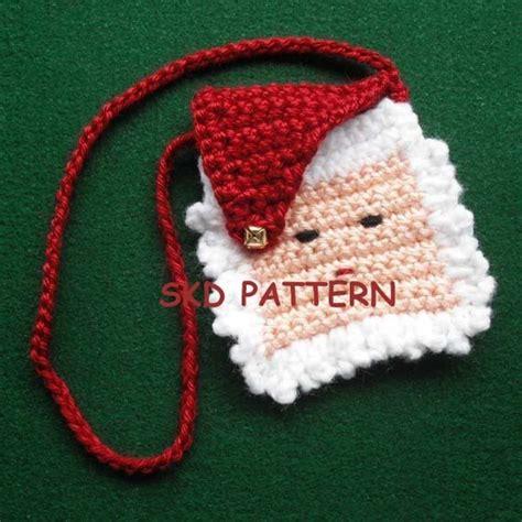 crochet jewelry bag pattern free christmas pdf crochet pattern mini santa purse